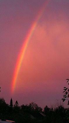 Dawn rainbow over puget sound - mukilteo