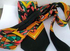 Rush Limbaugh Silk Neck Tie w Chain No Boundaries All Colors Picasso Look #RushLimbaugh #NeckTie