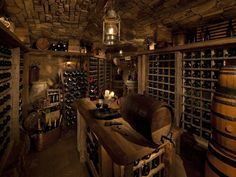 I will have my rustic wine room someday...