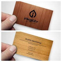 Get your #Wooden #BusinessCards from @inkgility today... #PersonalizedCreativity