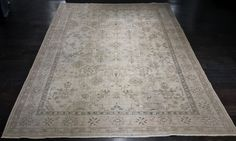 """Roosevelt"" 7'7""x10'2"" Vintage Distressed Turkish Oushak Rug"