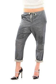 Moda donna · MANILA GRACE - Pantaloni - Abbigliamento - Pantaloni in cotone  con risvolto sul fondo. Coulisse d4ab3024547a