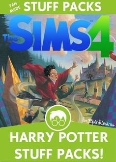 """I am a MASSIVE Harry Potter fan, so it only made sense for me to do a """"stuff pack"""" based around Harry Potter! The other games have had lots of HP-themed CC, but Sims 4 is seriously lacking, so I..."""