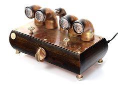 """DIY Nixie Tube Clock """"For quarter"""" zegar steampunk  www.nixie.com.pl"""
