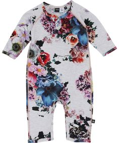 7e2f667c10a6 Fiona - Floral - molo baby heldräkt med printmönster