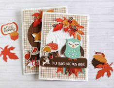 """Hello Echo Park paper friends! My favorite season is just around the corner and I always enjoy creating anything fall related! Anya here today to share with you a set of cards I created with the """"Celebrate Autumn"""" collection. To create this card I used a number of different dies..."""
