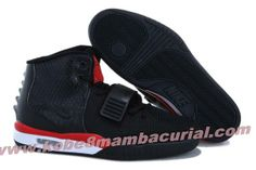 2013 Nike Air Yeezy II Men Shoes Black Red White