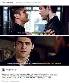 Shadowhunters>>> I mean yes this is great and all BUT WILL SOMEONE PLEASE TELL ME WHERE THIS HAPPENS IN THE BOOKS??!? (TMI books, CoB to CoHF)