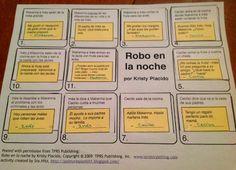 Teaching Spanish w/ Comprehensible Input: Robo en la noche -   Follow this teacher's blog. Great ideas