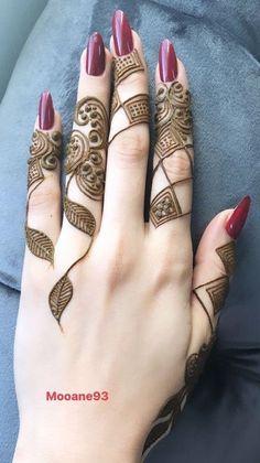 Mehndi or Henna for Fingers Designs Modern Henna Designs, Latest Arabic Mehndi Designs, Mehndi Designs Book, Finger Henna Designs, Mehndi Designs For Girls, Mehndi Designs For Beginners, Dulhan Mehndi Designs, Mehndi Design Photos, Mehndi Designs For Fingers