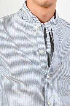ts(s) - Stripe Scarf Collar Shirt