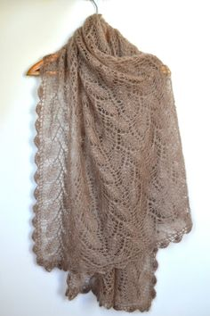 Very soft hand-knitted shawl/scarf (mohair & silk) - NEW COLLECTION. $149.00, via Etsy.