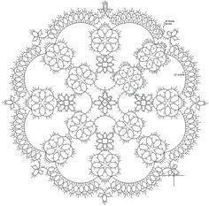Free Tatting Patterns Beginners   Pinwheel Tatted Doily