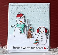 Boots Blog Spot: Simon Says Wednesday Challenge - Christmas/Happy Holiday - embossing paste on snowy background