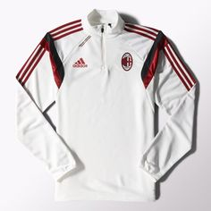 AC Milan Training Top - White AC Milan Official Merchandise Available at www.itsmatchday.com