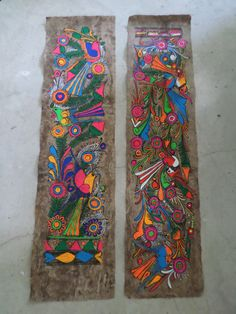 Vintage Mexican Folk Art Hand Painted Amate by TradewindsFolkArt Dengeki Daisy, Art Deco Posters, Pokemon Cosplay, Mexican Folk Art, Diy Home Crafts, Whimsical Art, Manga Art, Art Drawings, Owl Paintings