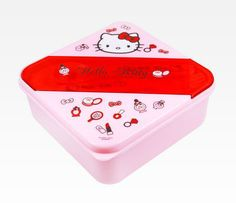 Hello Kitty Lunch Container: Cosmetics