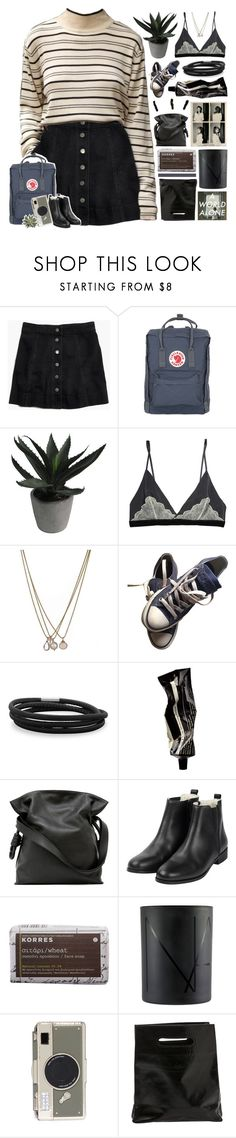 """just imagine you're out there ⚘"" by spriingy ❤ liked on Polyvore featuring Madewell, Fjällräven, Abigail Ahern, Lionette, Converse, BillyTheTree, Aesop, Tiffany & Co., Loewe and Korres"
