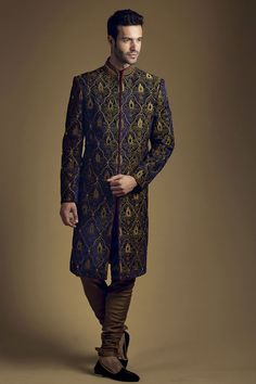 Olive Sherwani from the 2013 BenzerWorld Collection