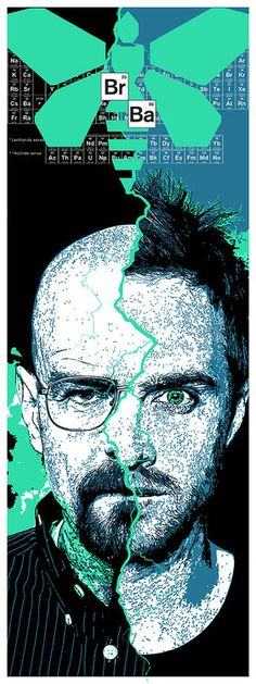 Breaking Bad inspired screenprint by John Allen (johneallen on Etsy). Jesse Pinkman, Serie Breaking Bad, Breaking Bad Shirt, Breaking Bad Poster, Bad Fan Art, Bad Art, Walter White, Cool Posters, Movie Posters