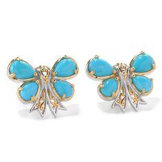 Michael Valitutti Sleeping Beauty Butterfly Earrings, Women's