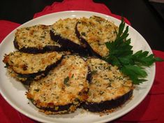 Oven Fried Eggplant Recipe