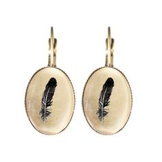The Feather Clip Earrings - Joli 2014 Clip Earrings, Grid, Cufflinks, Feather, Accessories, Collection, Vintage, Jewelry, Style