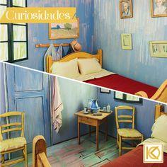 Em uma de suas pinturas mais famosas, Vincent Van Gogh retratou o quarto em que morava em uma pensão de Arles, na França. Artistas americanos fizeram uma reprodução praticamente perfeita da obra de Van Gogh em um quarto real – e o colocaram à disposição para hóspedes no AirBnB por apenas 10 dólares. É a pintura saindo do quadro e indo para a realidade! #Arte #Pintura #VanGogh #Quarto #Architecture #Decoracao #Design #KarlaOliveira #StudioKarlaOliveira