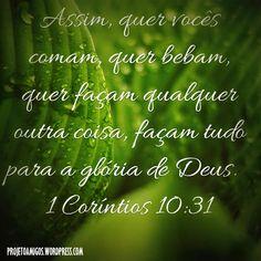 Façam tudo para a glória de Deus