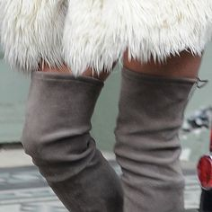 Kate Moss Snapped on the Steet in Over-the-Knee Boots