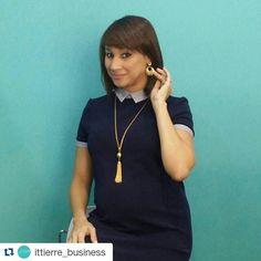 """Hermoso vestido de @ittierre_business junto a nuestros accesorios  Encuentralos en nuestro """"Silver Showroom"""" en @ittierre_topshop que está  ubicado en la Plaza Castilla (Av. Abraham Lincoln casi esq. Lope de Vega)  Para más info contactanos : 809 853 3250 / 809 405 5555  #newarrivals #available #newcollection #necklace #collar #gold #fancy #accesories #jewelry #chic #trendy #delicate #precious #glam #gorgeous #unique #fancy #byou #becomplete #pretty #crystals #complementosjewelry…"""