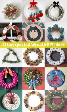 This collection of 21 unexpected wreath DIY ideas is full of inspiration that will get you ready for the holiday season.