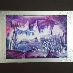 Encaustic art greetings card by Gweddus Art