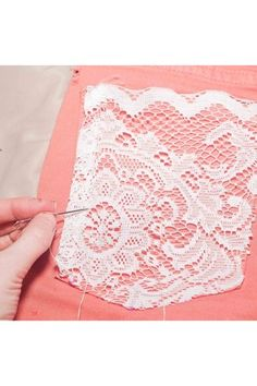 lace pockets on plain tees. i am doing this!