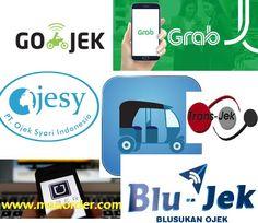 Daftar transportasi ojek, taksi berbasis aplikasi online dan argo berdasar jarak tempuh. Lengkap dengan info tarif dan link download.