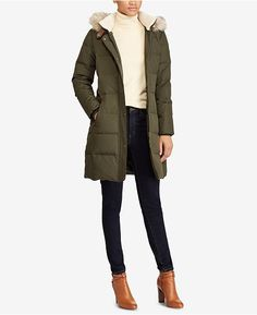 Faux-fur trim and lining at the hood dial up the chic look and cozy feel of this quilted Lauren Ralph Lauren down coat. Trendy Outfits, Fall Outfits, Cute Outfits, Fashion Outfits, Beautiful Outfits, Preppy Fashion, Girly Outfits, Work Outfits, Fashion Women