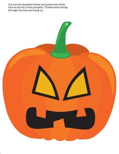 free printable halloween decoration pumpkin - Print Out Halloween Decorations