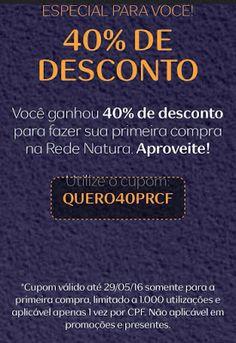 Natura Cosméticos Online: 40% de desconto em sua primeira compra na Rede Nat...