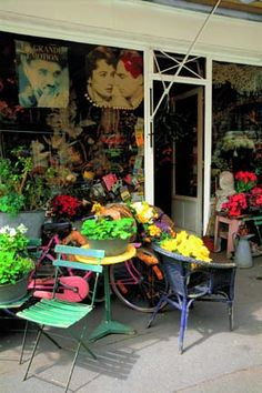 Photography of France - France Flower Shop by Locke Heemstra Pretty Pictures, Cool Photos, Boutiques, French Flowers, Garden Entrance, French Cafe, Flower Farm, Growing Flowers, Its A Wonderful Life