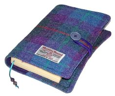 Book Cover Harris Tweed Purple Heather Bible by WhimsyWooDesigns
