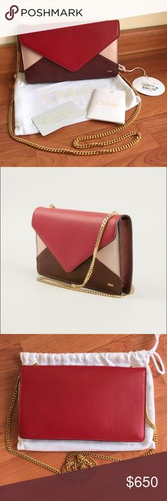 Chloe Wallet on Chain Brand New! 100% authentic! Comes with everything on the cover picture. Chloe Bags Crossbody Bags