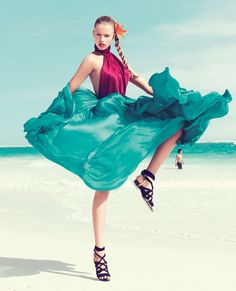 a model on a beach will always be the best combo for editorials