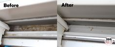 How to Clean Sliding Door Tracks. I just did this and I wish I took a before/after picture. All you need is vinegar and foam brush! 01/19/2013