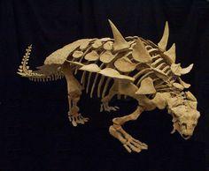 Gastonia burgei Ankylosaur Skeleton Early Cretaceous, Cedar Mountain Formation of Eastern Utah//Ankylosaurus casts replicas dinosaurs //Specimen: College of Eastern Utah Prehistoric Museum (Kingdom: Animalia, Phylum: Chordata, Class: Sauropsida, Superorder: Dinosauria, Order: Ornithischia, Suborder: Thyreophora, Infraorder: Ankylosauria, Family: Ankylosauridae, Subfamily: Polacanthinae, Genus: Gastonia)