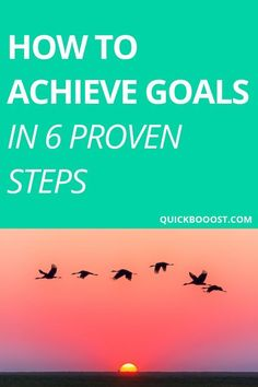 Want to know how to achieve goals? Use these 6 proven steps to goal setting! Achieve your goals, move in the right direction, and create your ideal life. Goal Setting Life, Personal Goal Setting, Goal Settings, Personal Goals, Development Goals For Work, Personal Development Books, Self Development, Achieving Goals, Achieve Your Goals
