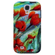 Samsung Galaxy i phone pod red poppy art design