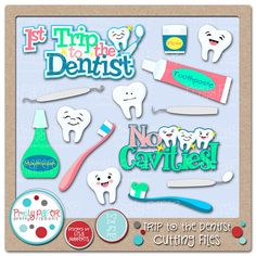 Trip to the Dentist Cutting Files & Clip Art  Instant by lnorris21