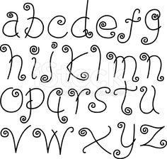 Doodle Font - Letters, Lower Case, Alphabet, Text royalty-free stock vector art