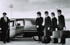 The Beatles at Chicago O'Hare 1966