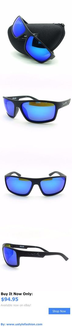 Unisex accessories: Wiley X Acpea09 Peak Matte Black Blue Mirror Polarized New Authentic Sunglasses BUY IT NOW ONLY: $94.95 #ustylefashionUnisexaccessories OR #ustylefashion